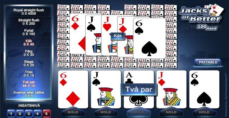 100-hands Videopoker