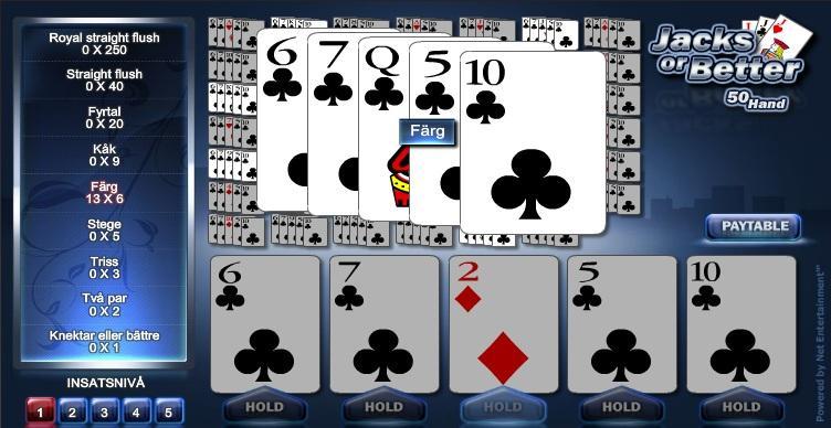 50-hands Videopoker